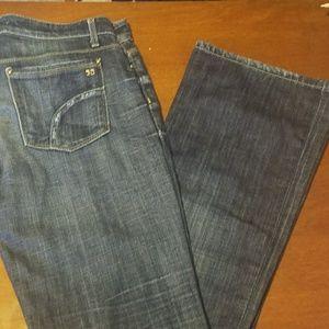 "Joe's jeans ""provocateur"" dark wash boot cut"