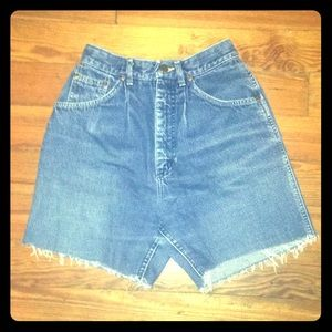 Lee Vintage High Waisted Cut-off Jean Shorts