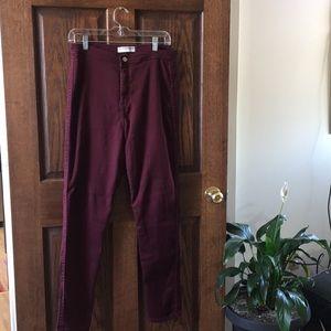 Plum high-waist jeans