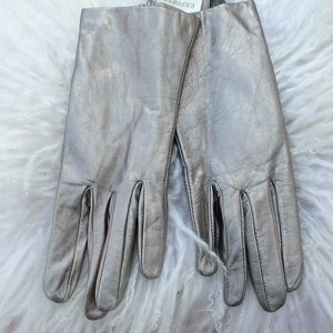 Express leather silver gloves new with tags