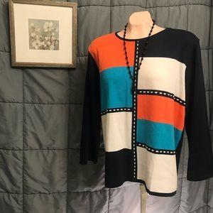 ❤️BOGO1/2OFF❤️Alfred Dunner Large sweater