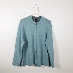 Eileen Fisher Button Down Teal Cardigan