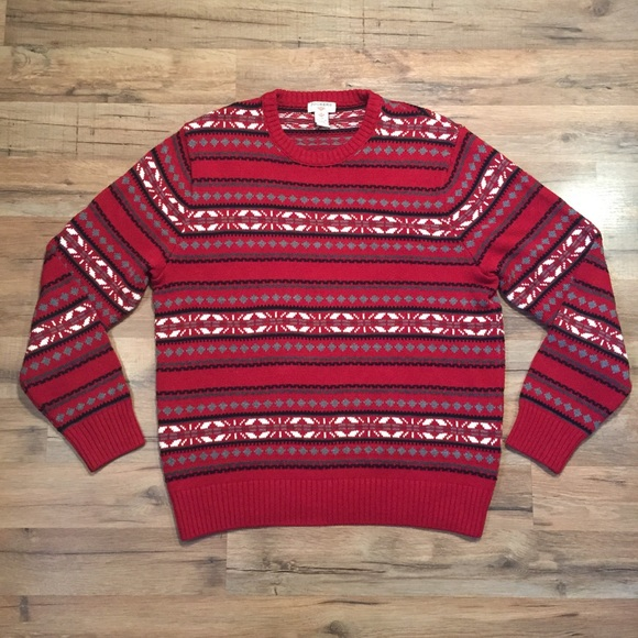 Dockers Christmas seasonal snowflake red sweater