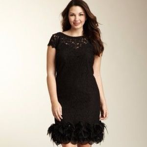 Jessica Simpson - Short Sleeve Feather Lace Dress