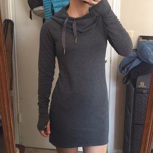 92ee2344f12d8 Athleta Dresses - Athleta Gray Cowl Lounge Sweatshirt Dress SizeXXS