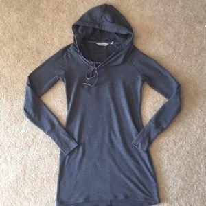 Athleta Gray Cowl Lounge Sweatshirt Dress SizeXXS