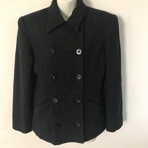 Vintage Express Double Breasted Wool Pea Coat