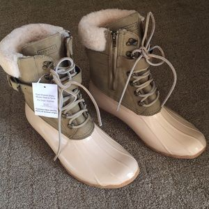 NWT Sperry for J.Crew Shearwater winter boot