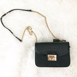 Handbags - Crocodile black crossbody