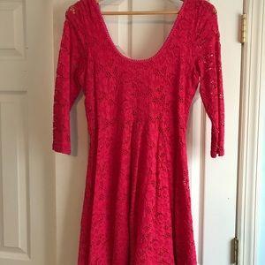 Pink Free People Dress Size:M
