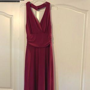 Le Chateau maroon v-neck dress