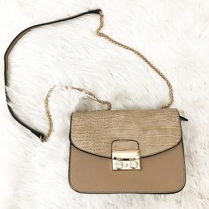 Handbags - Tan crocodile crossbody