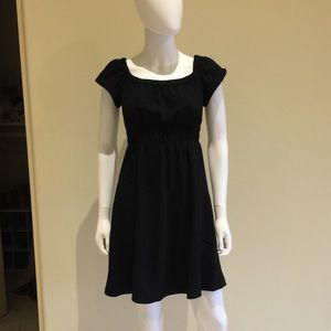 Zara LBD with ruched bodice