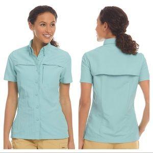 L.L. Bean Women's Tropicwear Short-Sleeve Shirt L