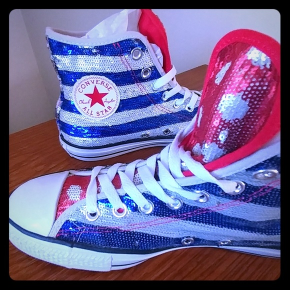 Converse Shoes - LIMITED EDITION American Flag sequin Converse 0adae4ed0
