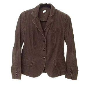 J.Crew chocolate brown corduroy blazer