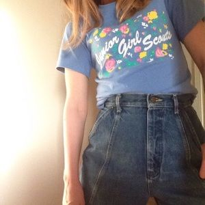 Vintage Junior Girl Scouts T-Shirt 70s 80s