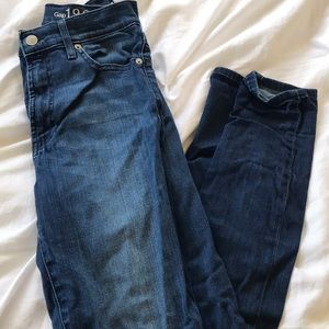 Gap size 27 high rise skinny jeans