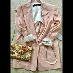 {zara} NWOT casual suit long blazer XS