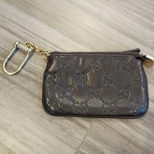 gucci key pouch. gucci leather key case pouch