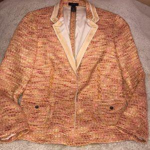 J Crew Collection Woven Lollipop Tweed Blazer 10