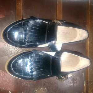 Top shop patent leather loafers