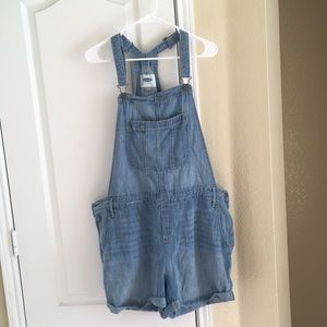 Old Navy jean short overalls