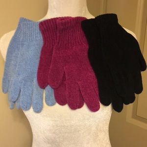 3 pairs of chenille gloves