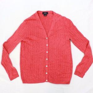 Brooks Brothers Cashmere Cardigan Silk  Sweater