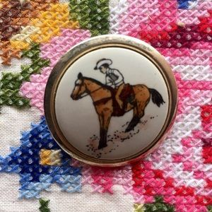 Jewelry - Vintage Cowboy Brooch Pin
