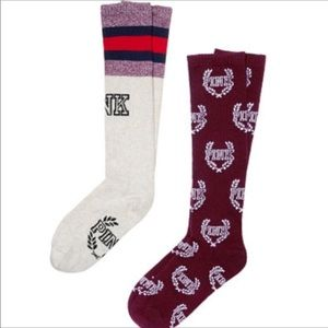 VS PINK knee length socks