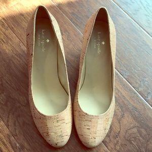 Kate Spade Cork Wedges Size 7.5