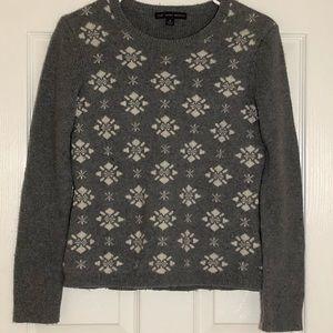 346 Brooks Brothers Gray Snow Winter Sweater