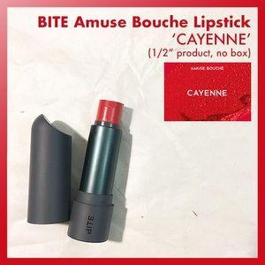 Bite amuse bouche lipstick cayenne holiday red