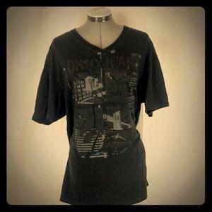 DKNY JEANS Black T-Shirt Size: Large