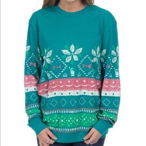 NWT Lauren James Christmas Sweater Tee