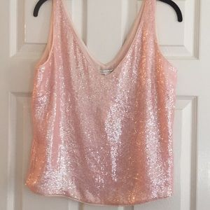NWT Pink Sequin Tank