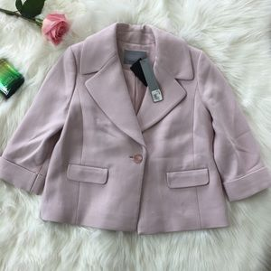 Classiques Entier Wool Blended Pink Blazer