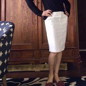 J. Crew ivory corduroy pencil skirt pockets LK NEW