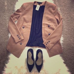 Forever 21 Career Jacket-Camel