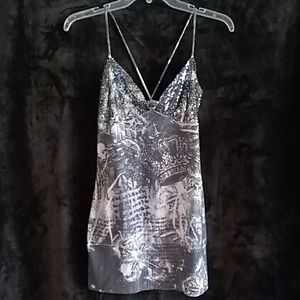 Wet seal grey shimmery top