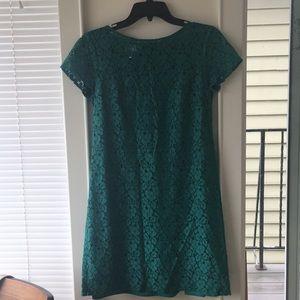 Shift dress with underlying slip