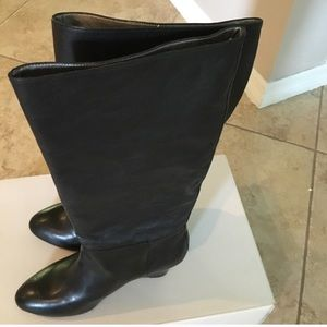 Black leather boots teagan banana Republic