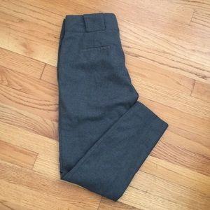 Zara Basic Skinny Charcoal Wool Slacks Pants