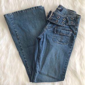 Vintage y2k [angels] flare low rise jeans