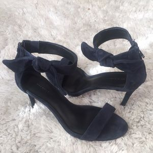 NEW Banana Republic Sexy Suede Navy Heels, size 9