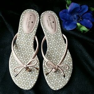 Kate Spade pink/cream sandals 7.5
