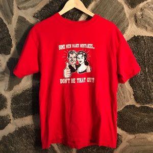 Vintage // red funny frat college t-shirt