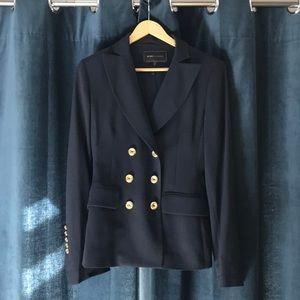 BCBG MAX AZRIA navy blazer w gold buttons XS