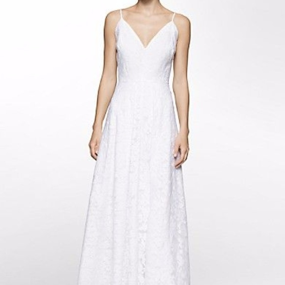 Calvin Klein Wedding Gowns: Jacquard Vneck Wedding Gown